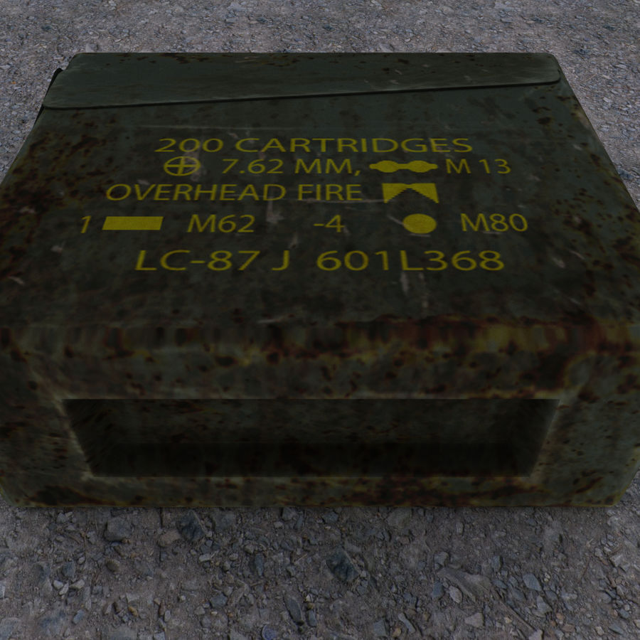 Boîte à munitions militaire royalty-free 3d model - Preview no. 8