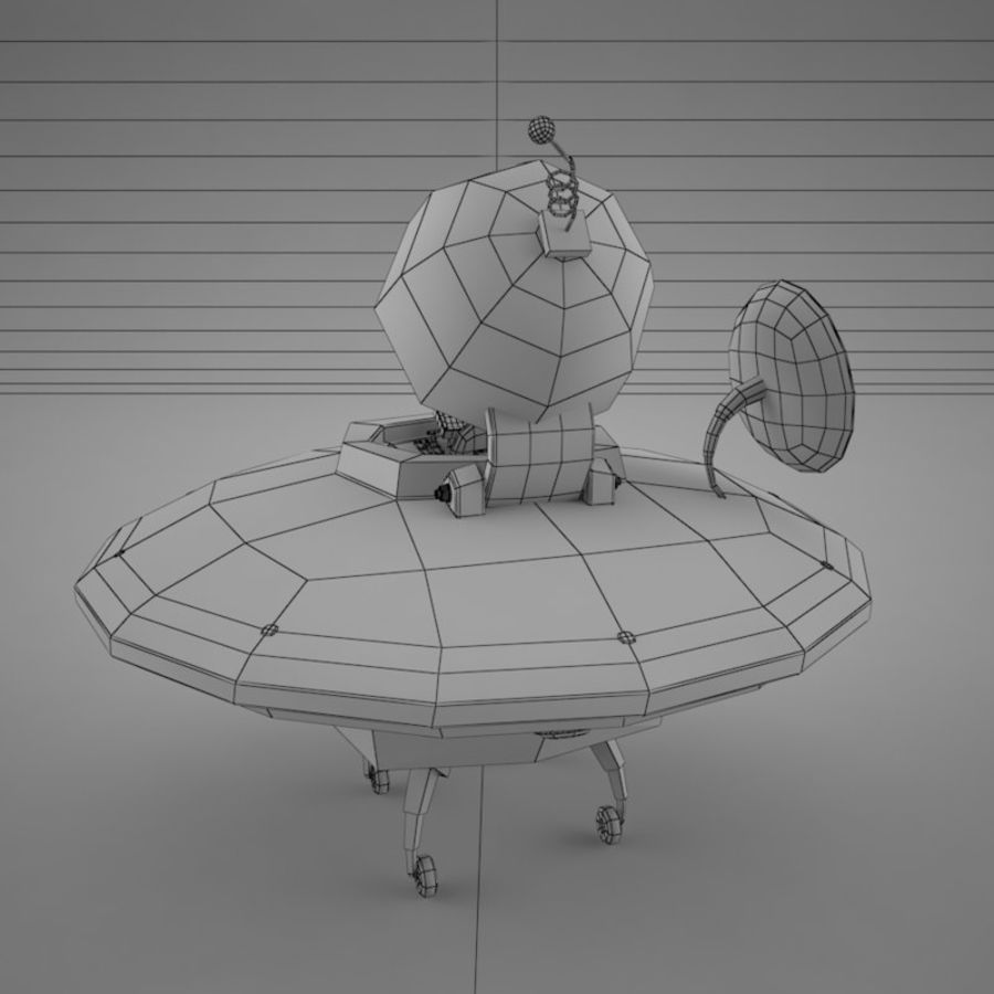 Cartoon Flying Saucer royalty-free 3d model - Preview no. 21