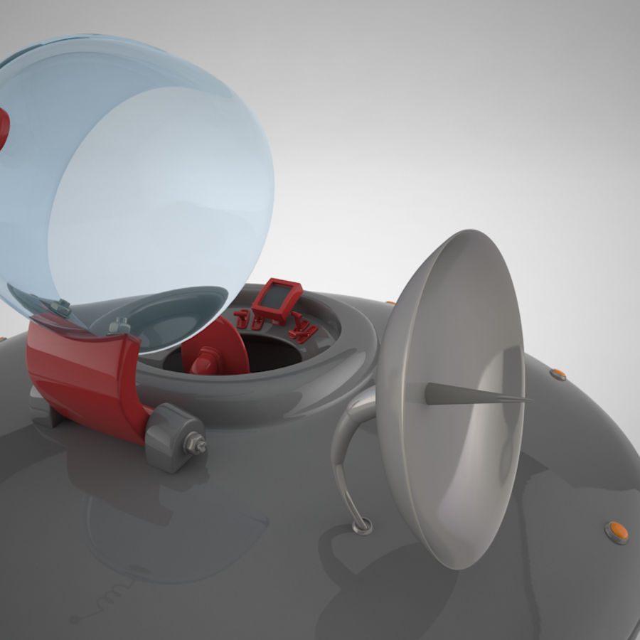 Cartoon Flying Saucer royalty-free 3d model - Preview no. 16