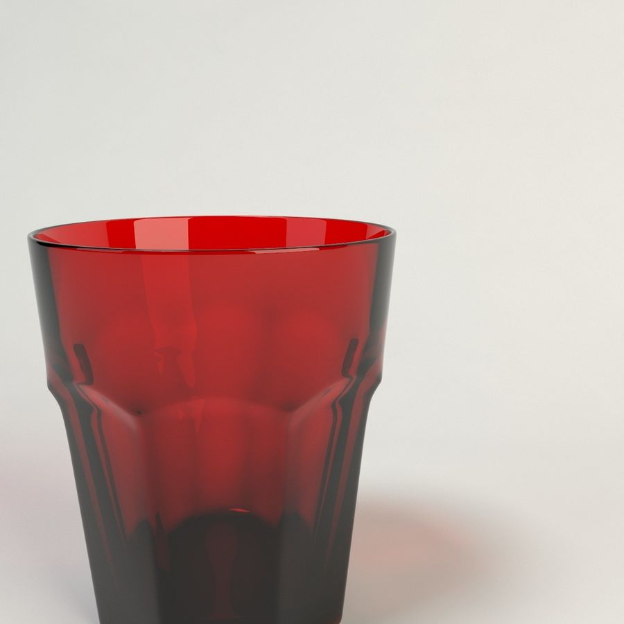 red glass royalty-free 3d model - Preview no. 3