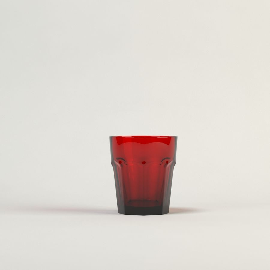 red glass royalty-free 3d model - Preview no. 1