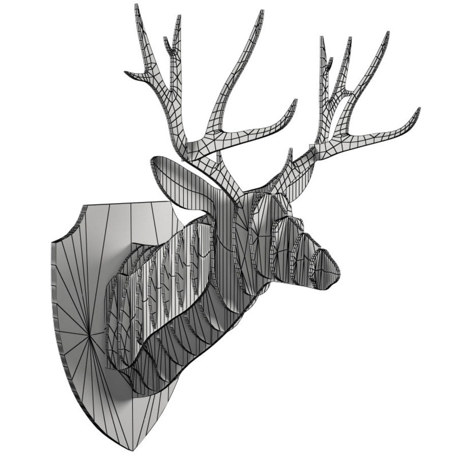 Cardboard Deer Head Royalty Free 3d Model