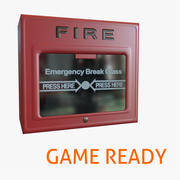 Fire Alarm Game Ready 3d model