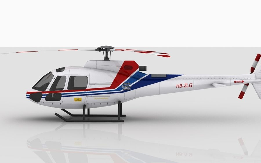 Eurocopter AS350 Skin 1 royalty-free 3d model - Preview no. 6
