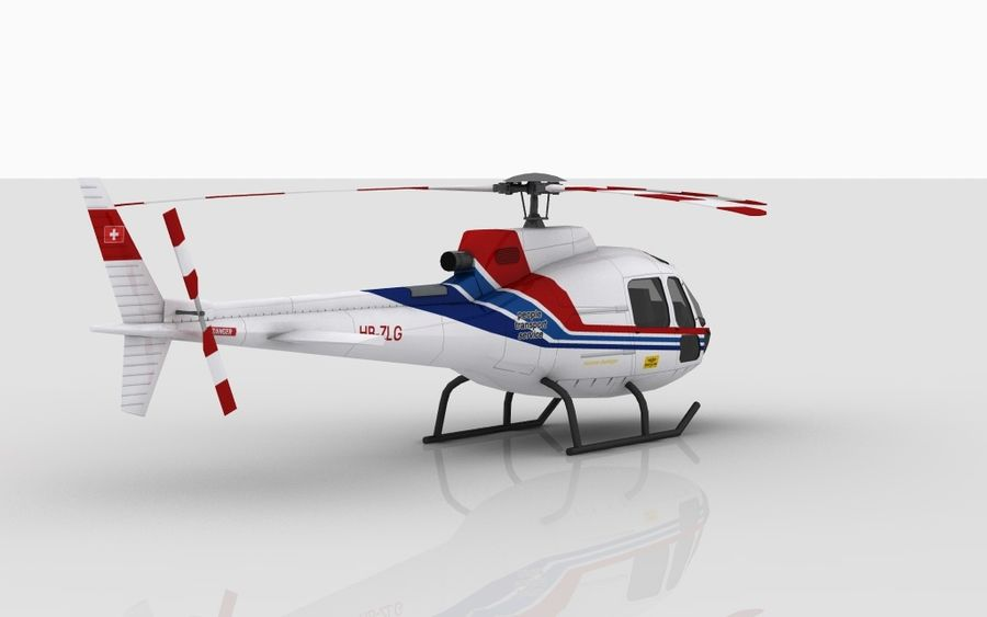 Eurocopter AS350 Skin 1 royalty-free 3d model - Preview no. 4