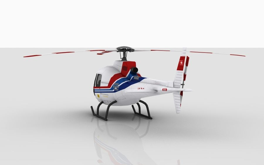 Eurocopter AS350 Skin 1 royalty-free 3d model - Preview no. 5