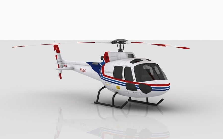 Eurocopter AS350 Skin 1 royalty-free 3d model - Preview no. 2
