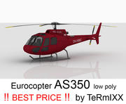 Eurocopter AS350 ROSSO 3d model