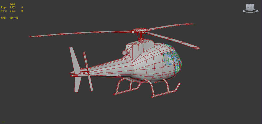 Eurocopter AS350 RED royalty-free 3d model - Preview no. 6