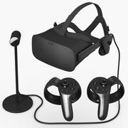 Oculus Rift and Controllers 3d model