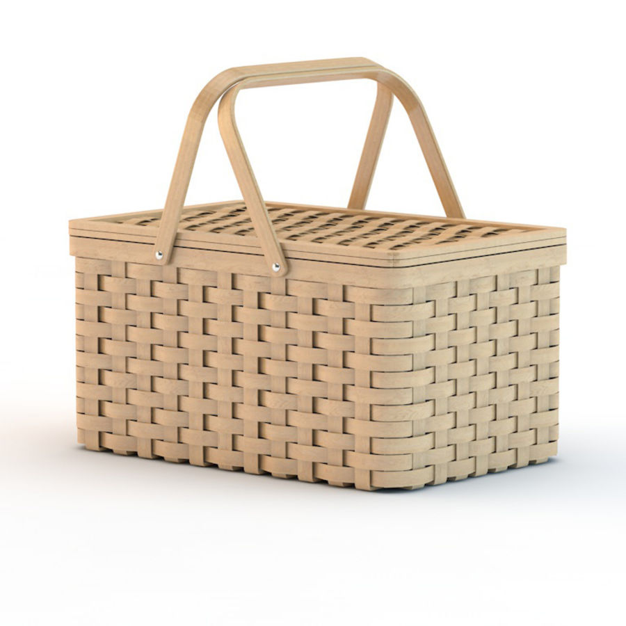 basket royalty-free 3d model - Preview no. 1