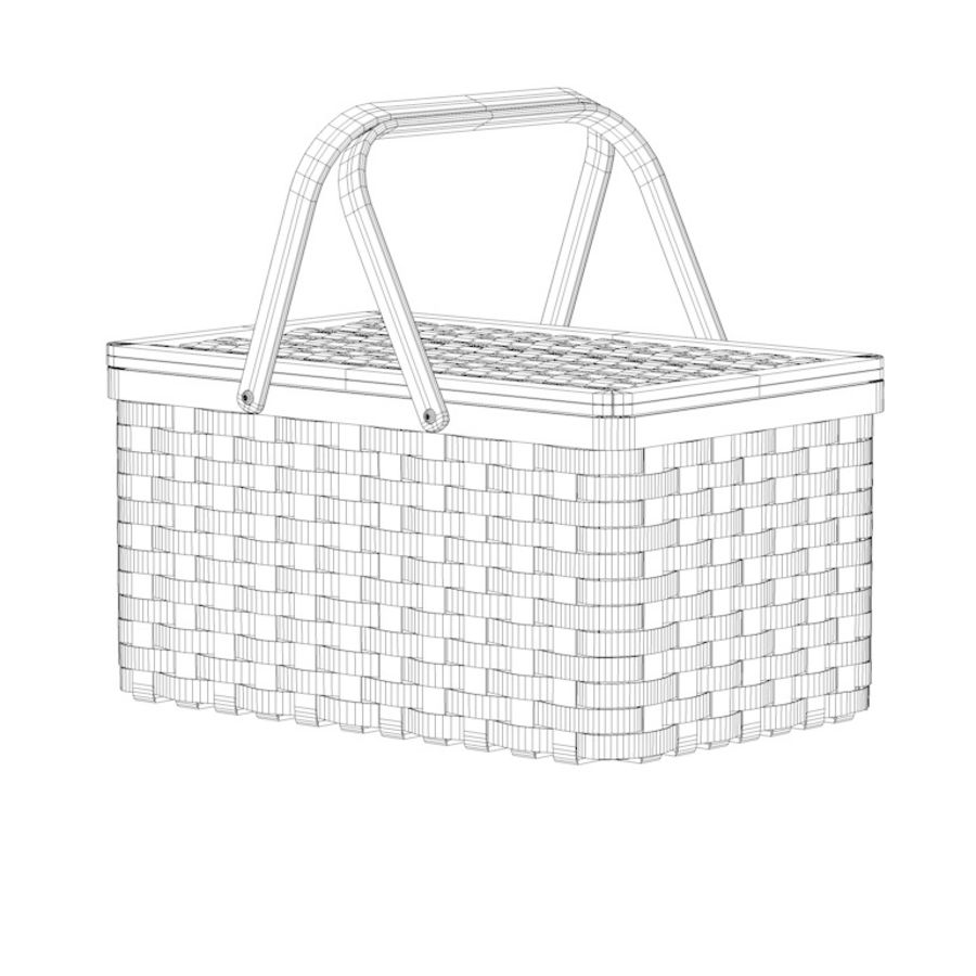 basket royalty-free 3d model - Preview no. 6