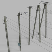 Electric Pole Concrete COLLECTION 3d model