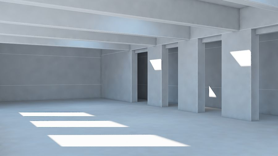 Industrial room royalty-free 3d model - Preview no. 6
