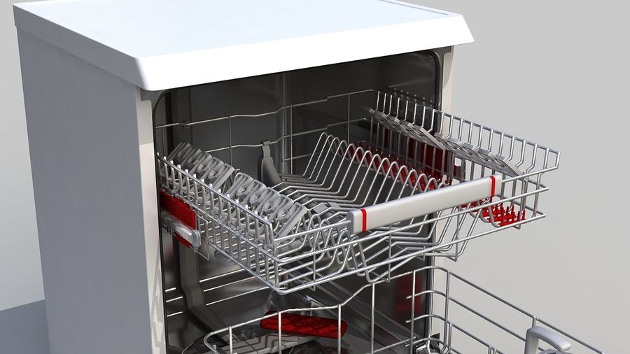 AEG Dishwasher royalty-free 3d model - Preview no. 4