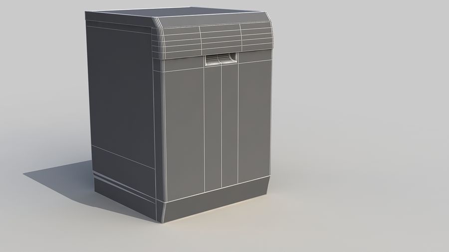 AEG Dishwasher royalty-free 3d model - Preview no. 14