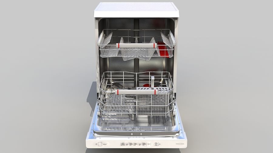 AEG Dishwasher royalty-free 3d model - Preview no. 3