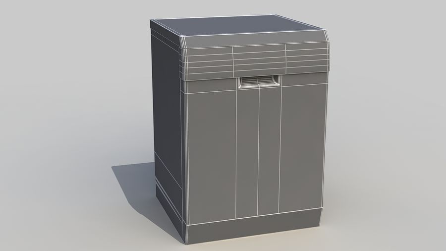 AEG Dishwasher royalty-free 3d model - Preview no. 15