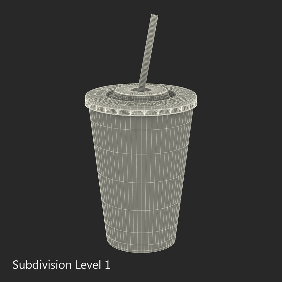 Drink Cup royalty-free 3d model - Preview no. 23