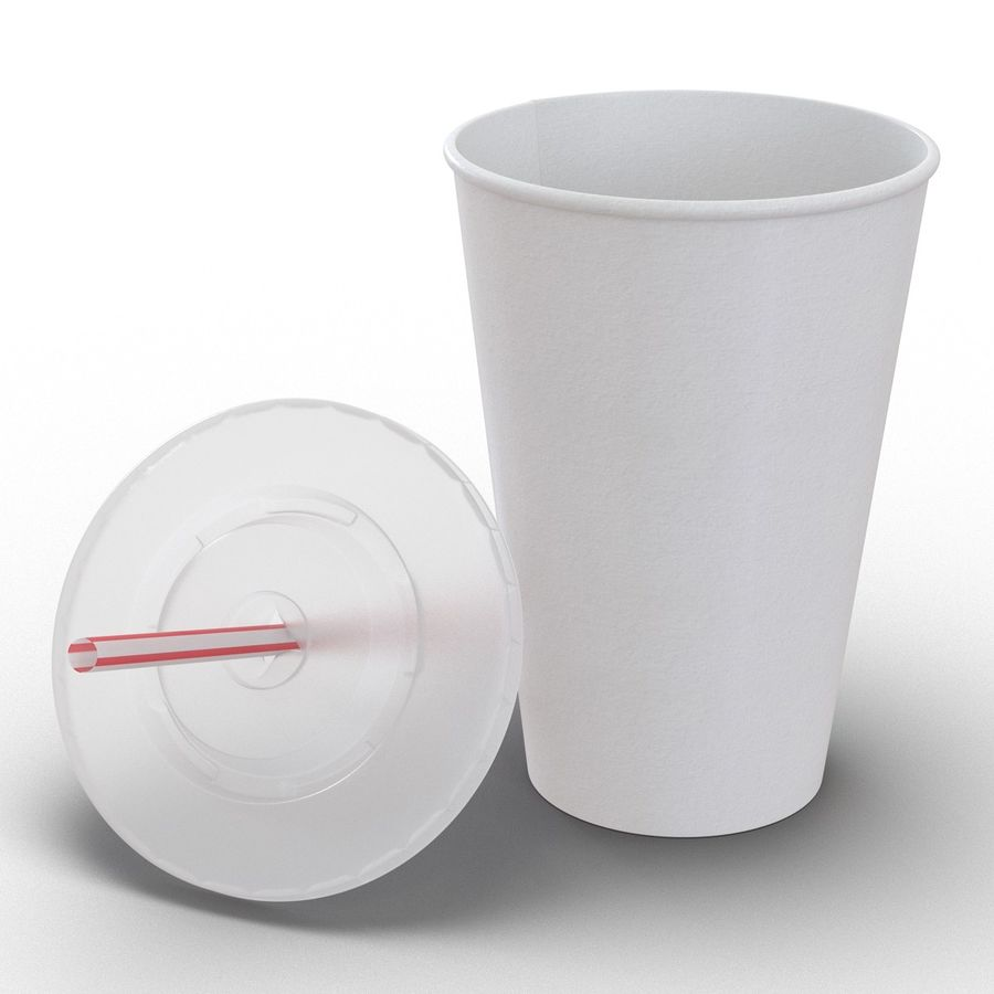 Drink Cup royalty-free 3d model - Preview no. 3