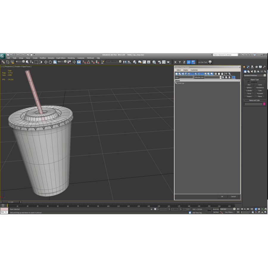 Drink Cup royalty-free 3d model - Preview no. 26