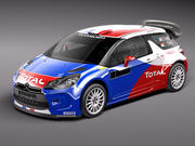Citroen DS3 Rally Car 2011-2015 3d model