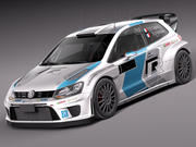 Volkswagen Polo Rally Car 2014-2016 3d model