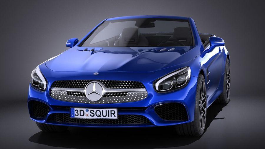 Mercedes-Benz SL 2017 royalty-free 3d model - Preview no. 2