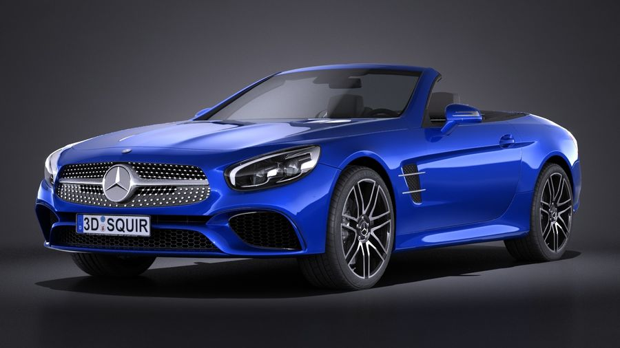 Mercedes-Benz SL 2017 royalty-free 3d model - Preview no. 1