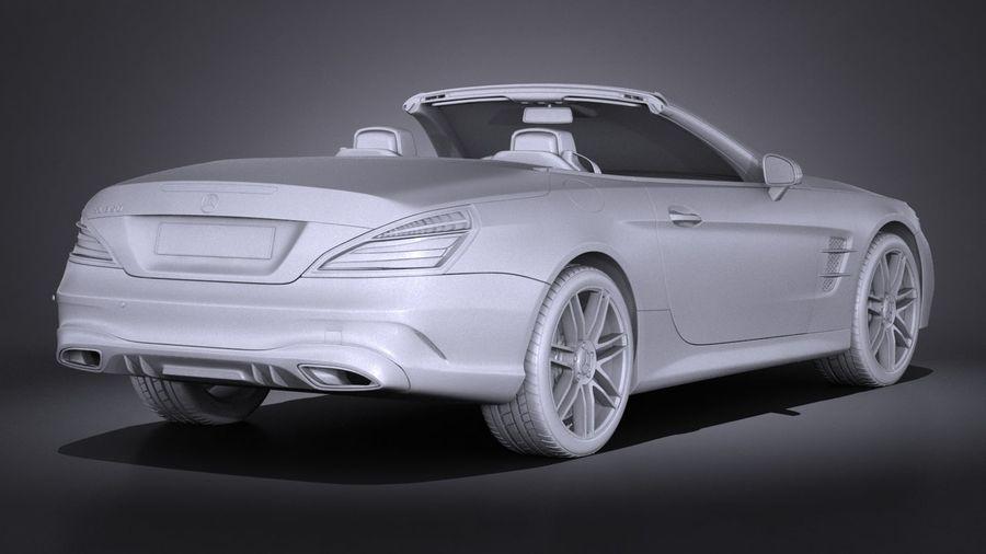 Mercedes-Benz SL 2017 royalty-free 3d model - Preview no. 15
