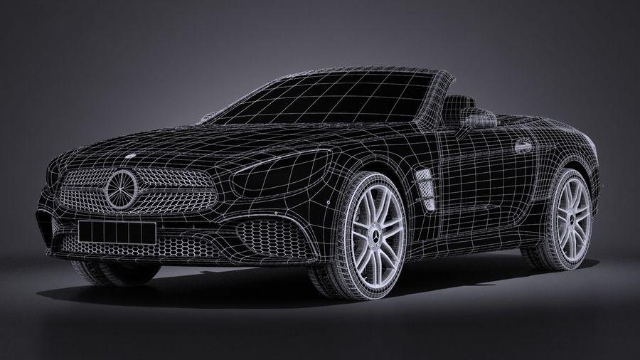 Mercedes-Benz SL 2017 royalty-free 3d model - Preview no. 18
