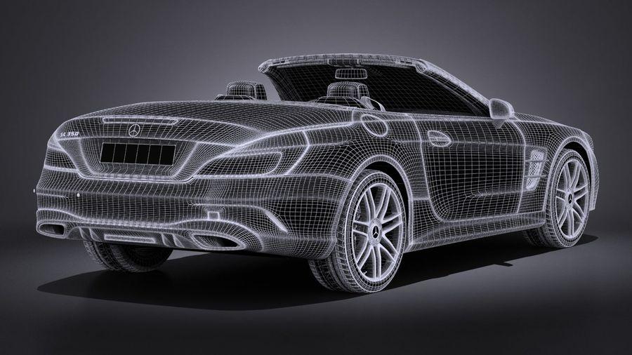 Mercedes-Benz SL 2017 royalty-free 3d model - Preview no. 17