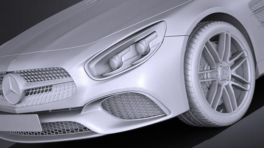 Mercedes-Benz SL 2017 royalty-free 3d model - Preview no. 13