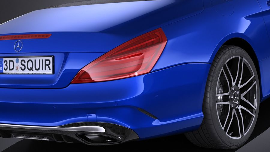Mercedes-Benz SL 2017 royalty-free 3d model - Preview no. 4