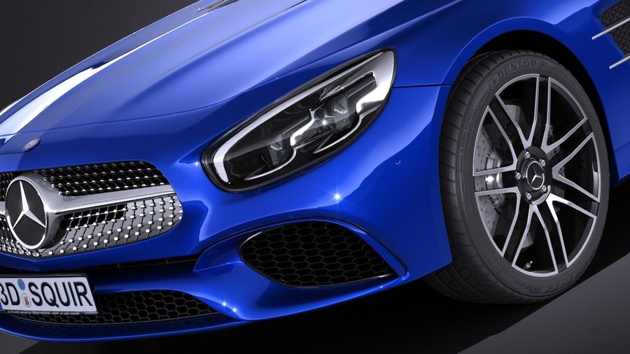 Mercedes-Benz SL 2017 royalty-free 3d model - Preview no. 3