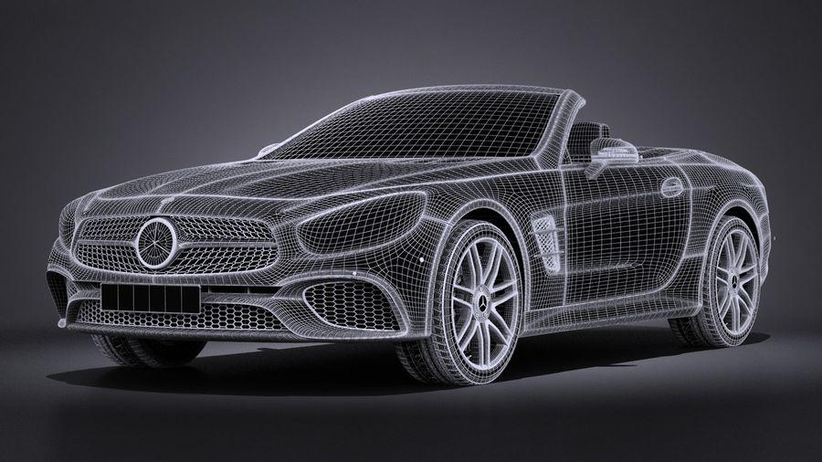 Mercedes-Benz SL 2017 royalty-free 3d model - Preview no. 16