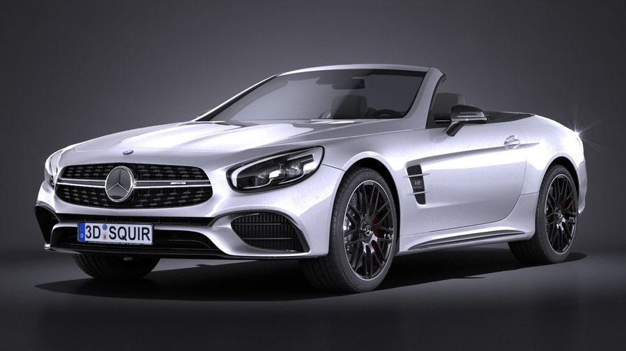 mercedes benz sl 63 amg 2017 3d model 149 obj max lwo fbx c4d 3ds free3d. Black Bedroom Furniture Sets. Home Design Ideas