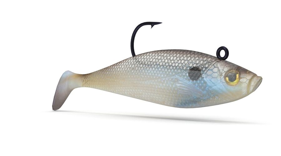 Jelly Shad Lure royalty-free 3d model - Preview no. 2