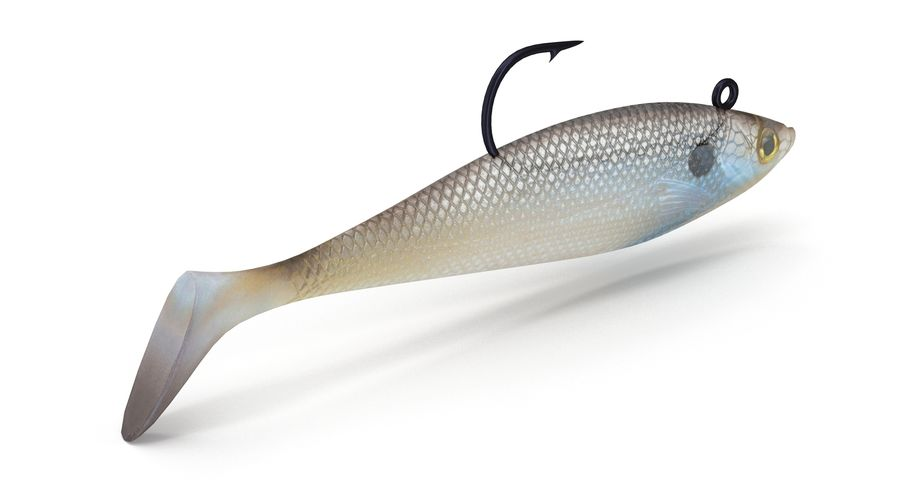 Jelly Shad Lure royalty-free 3d model - Preview no. 5