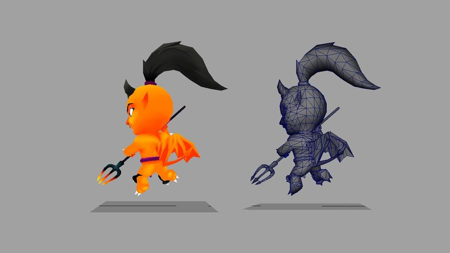 Fantasy Animated Character 5 royalty-free 3d model - Preview no. 2