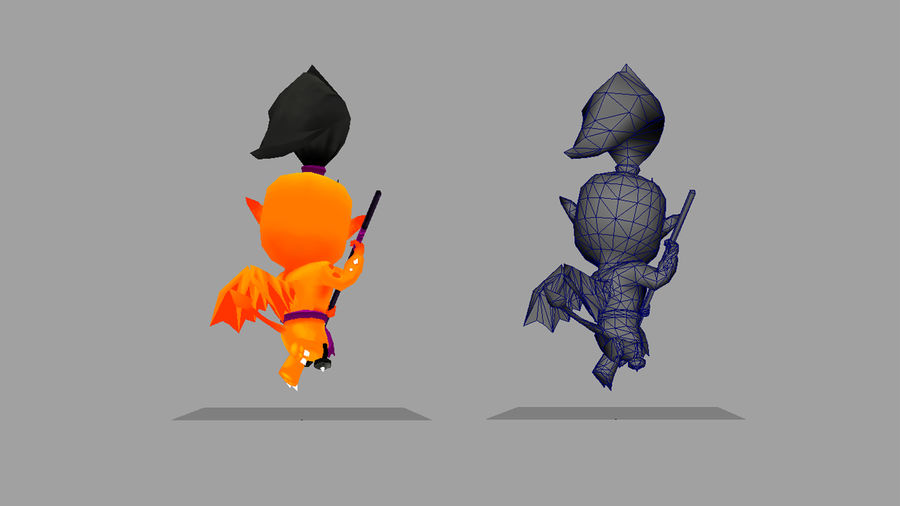 Fantasy Animated Character 5 royalty-free 3d model - Preview no. 4