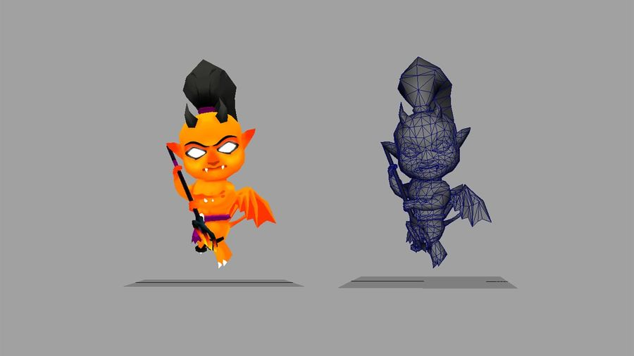 Fantasy Animated Character 5 royalty-free 3d model - Preview no. 3