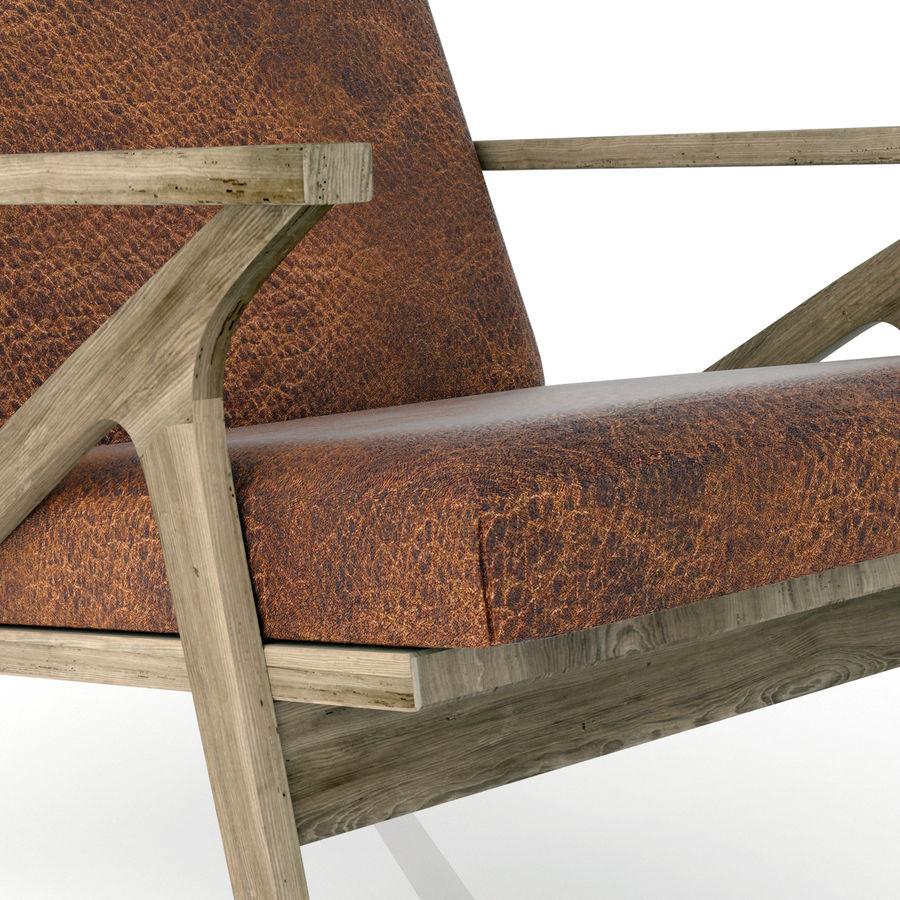 Cavett Leather Chair royalty-free 3d model - Preview no. 7