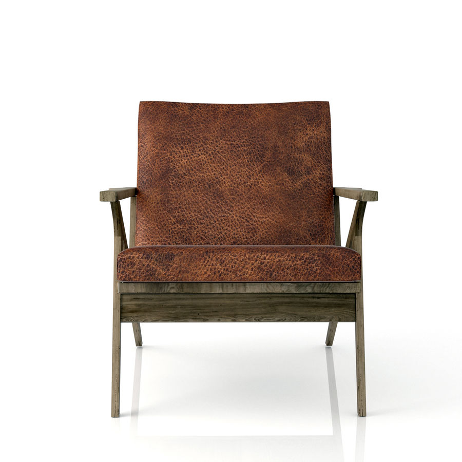 Cavett Leather Chair royalty-free 3d model - Preview no. 3