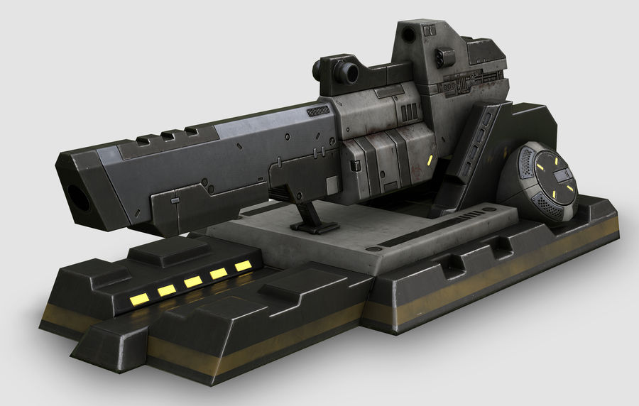 Sci-fi turret royalty-free 3d model - Preview no. 2