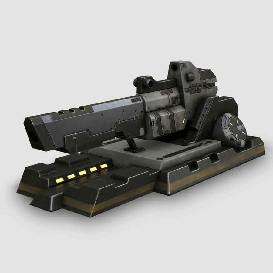 Sci-fi turret royalty-free 3d model - Preview no. 1