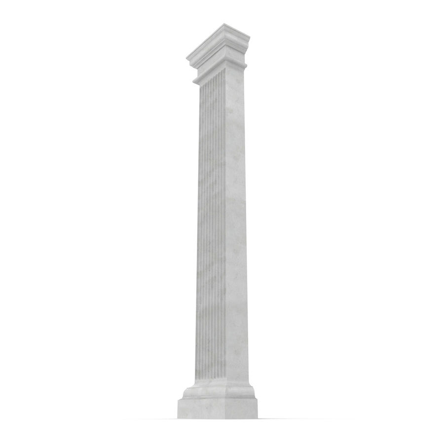 Pilaster Doric Greco Roman 3 3D Model royalty-free 3d model - Preview no. 6