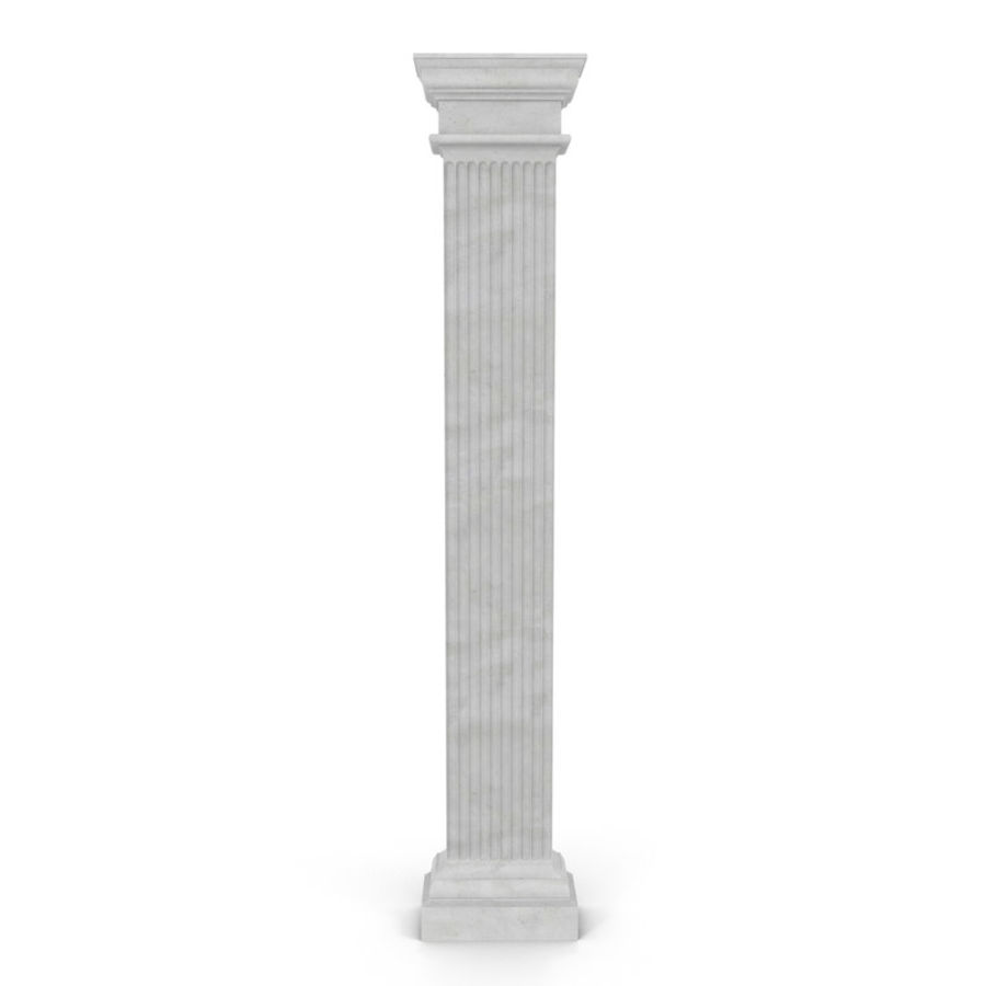 Pilaster Doric Greco Roman 3 3D Model royalty-free 3d model - Preview no. 2