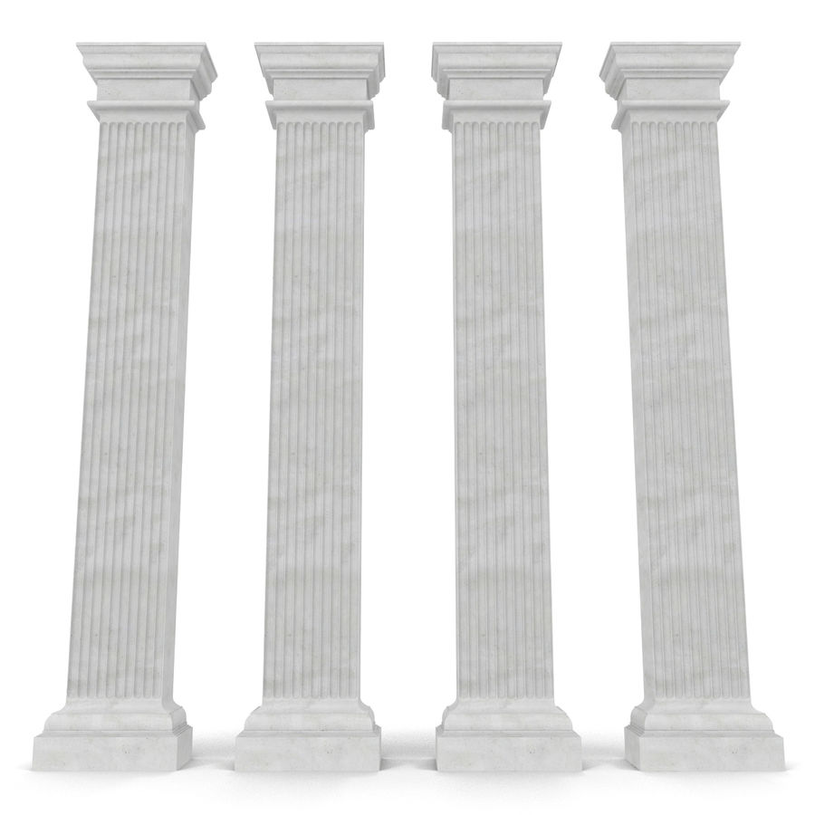 Pilaster Doric Greco Roman 3 3D Model royalty-free 3d model - Preview no. 8