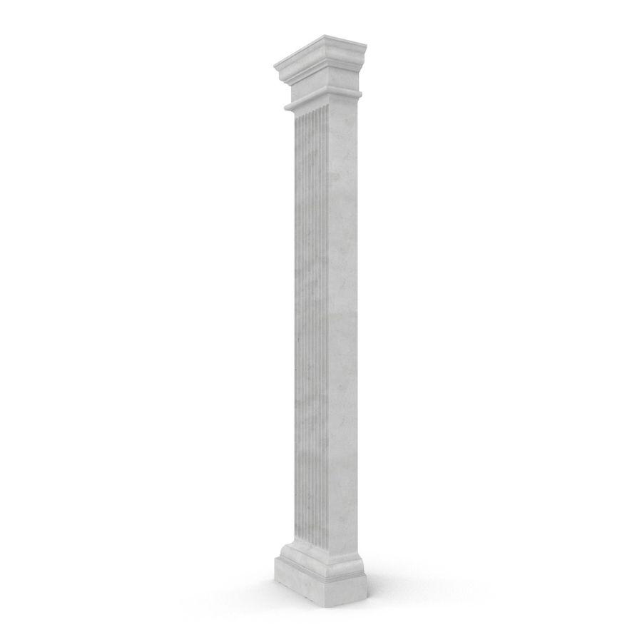 Pilaster Doric Greco Roman 3 3D Model royalty-free 3d model - Preview no. 4